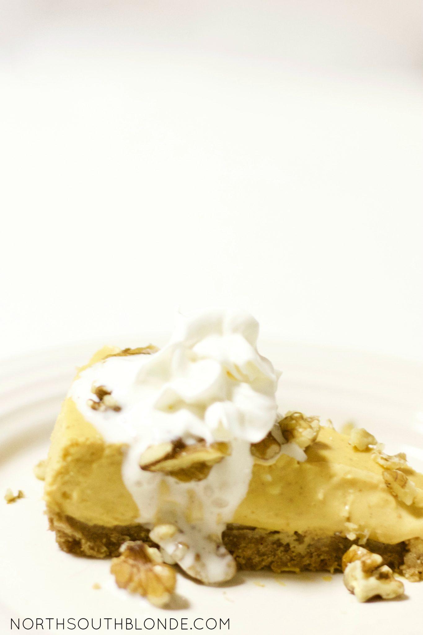 light pumpkin cheesecake