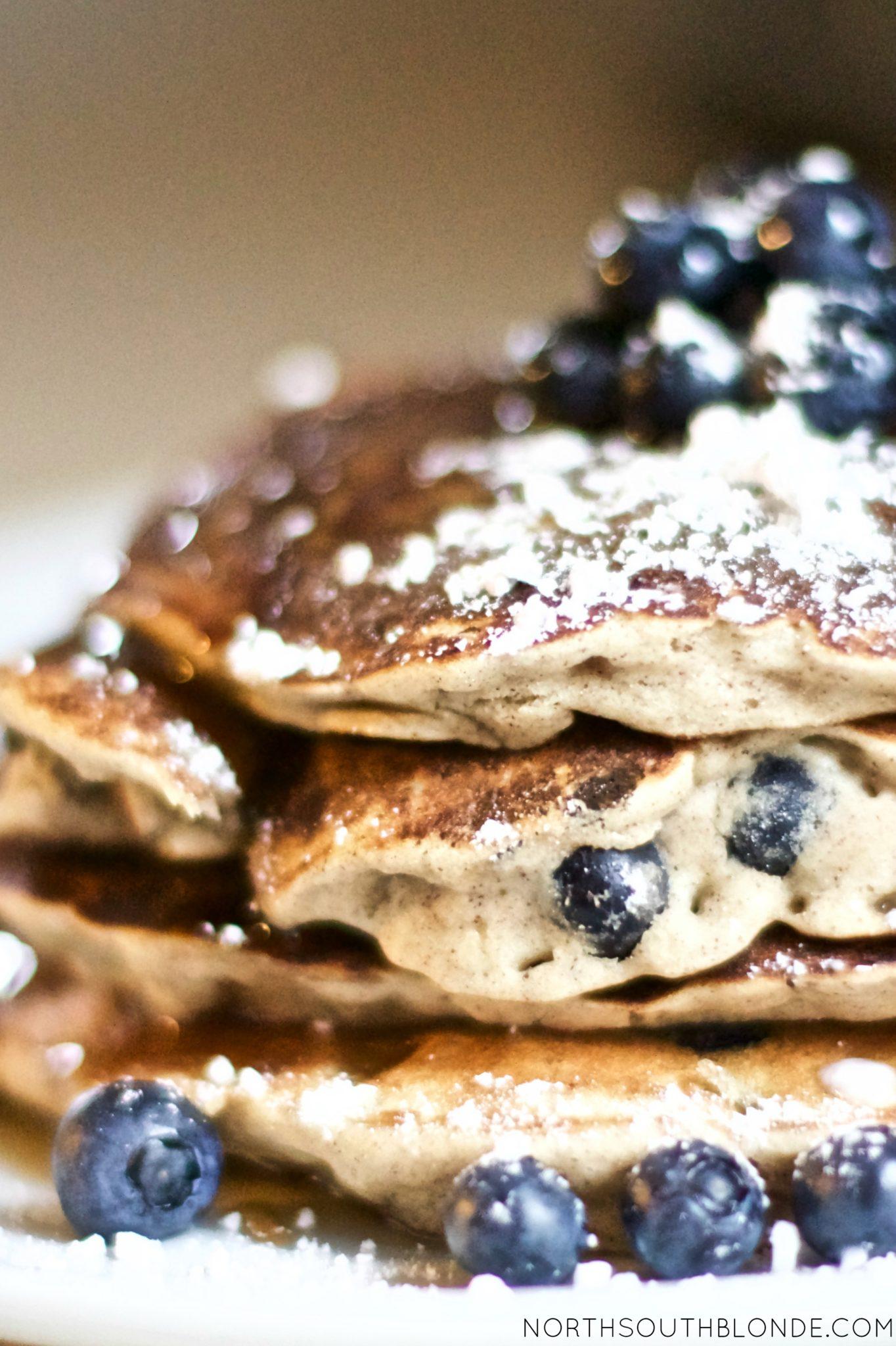 Blueberry Banana Cinnamon Pancakes (Vegan, Paleo, Gluten-Free)