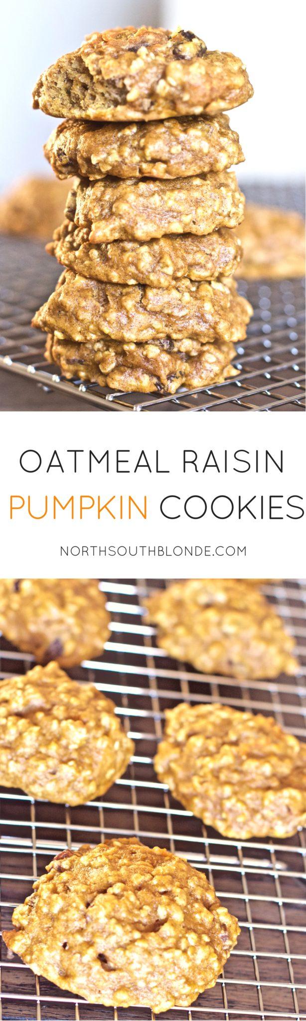 Oatmeal Raisin Pumpkin Cookies (Gluten-Free, Paleo, & Toddler Friendly)