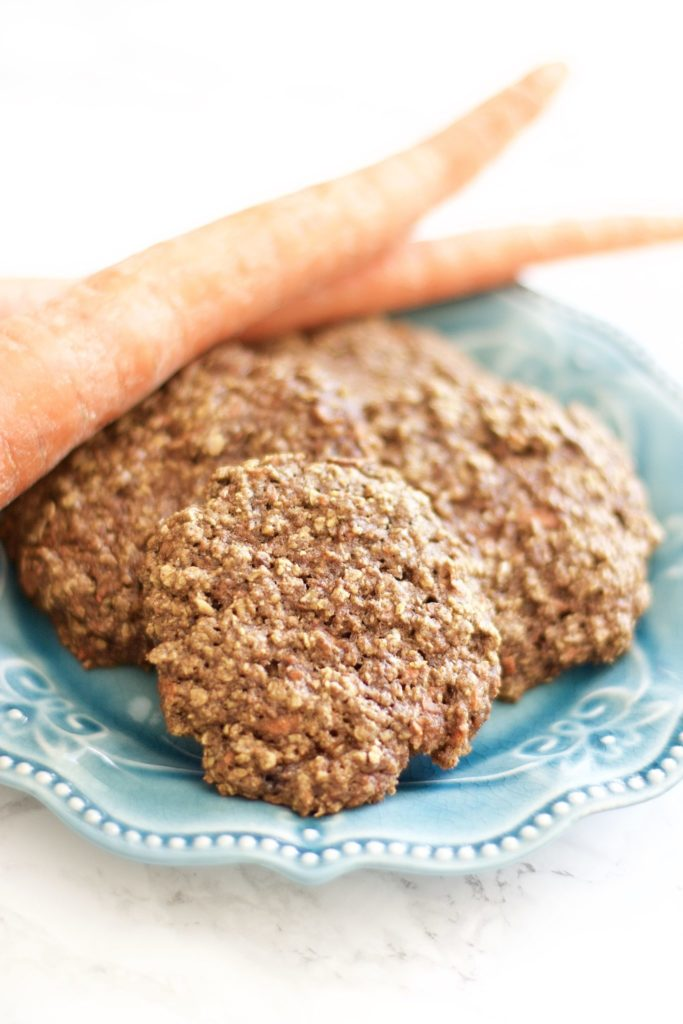 Carrot Cake Cookies (Gluten-Free, Low Fat, Kid-Friendly)