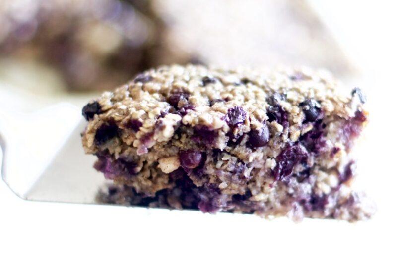Oatmeal Blueberry Breakfast Cake (Healthy, Gluten-free)