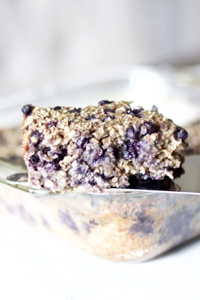 Oatmeal Blueberry Breakfast Cake (Healthy, Gluten-free)