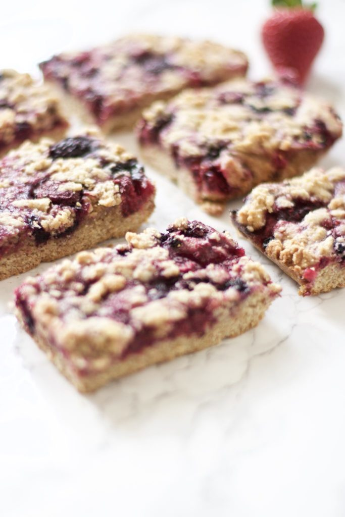Berry Pie Crumble Bars (Gluten-Free, Vegan)