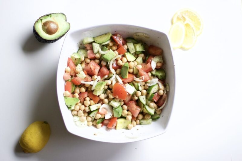 Vegan Avocado & Chickpea Salad (Vegan, Gluten-Free, Paleo, Whole 30)