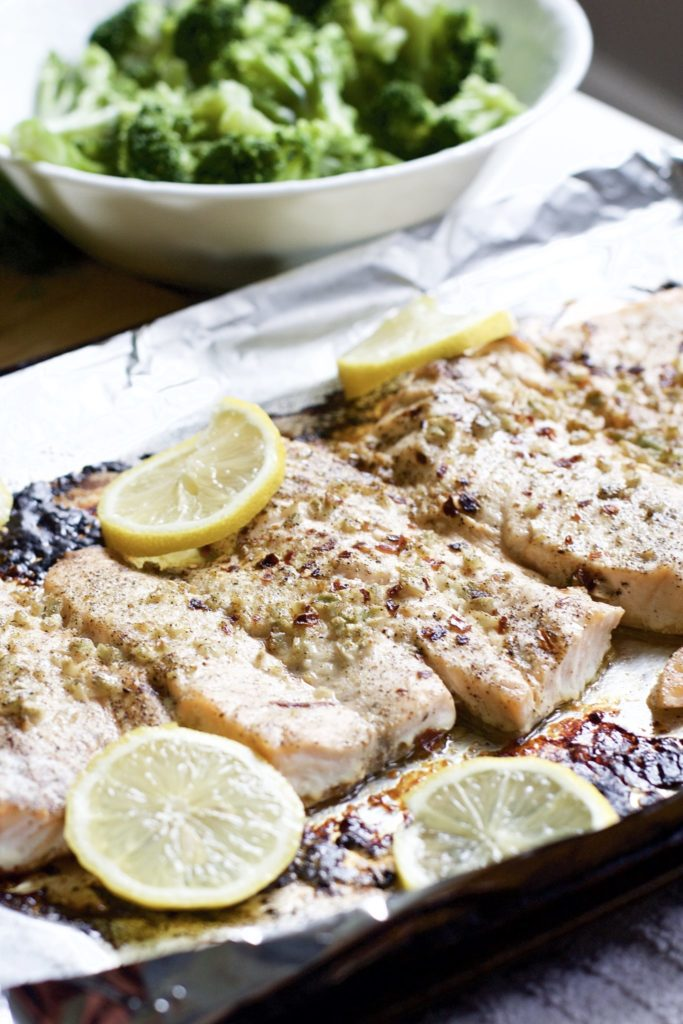 Lemon and Garlic Butter Salmon (Gluten-Free, Paleo, Whole 30)