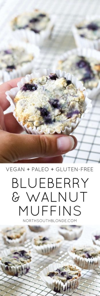 Blueberry and Walnut Breakfast Muffins are deliciously soft and crunchy with an explosion of blueberries. A light and healthy breakfast snack that's low in carbs and high in nutrients.