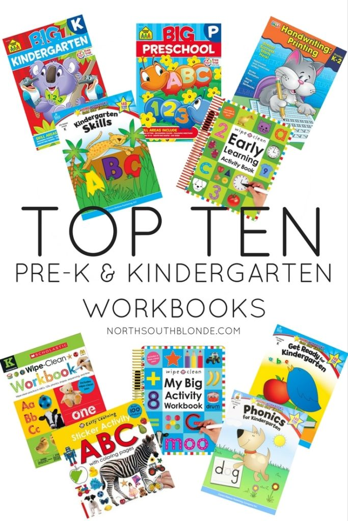 Top Ten Preschool and Kindergarten Workbooks