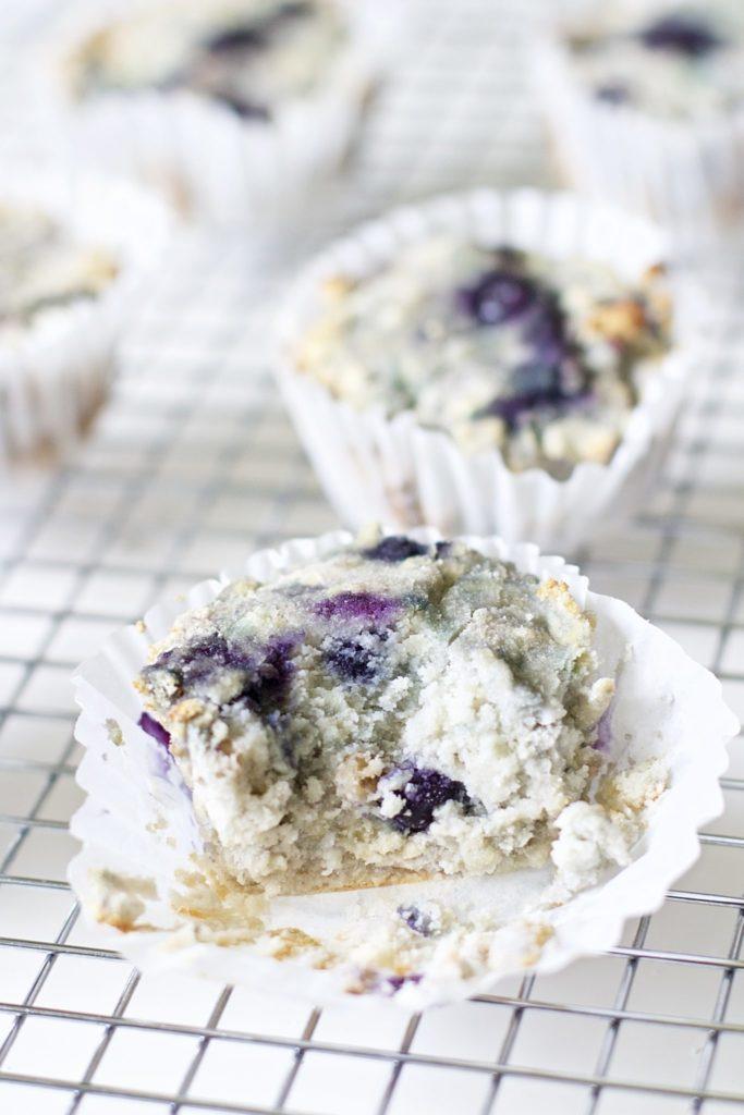 Blueberry and Walnut Breakfast Muffins (Vegan, Paleo, Gluten-Free)