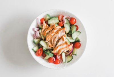 Full of flavour and light and healthy! A delicious seafood salad for lunch or dinner and made in under 15 minutes. Family, kid-friendly, and great for weight loss. Protein | Omega-3's | Super Foods | Easy Recipes | Gluten-Free Recipes | Paleo Recipes | Whole 30 Recipes | Dinner Recipes | Mains | Lunch Recipes | Loose Weight | Healthy Recipes | Salmon Salad | Cucumber Salad | Appetizer | Main Course | Summer Recipes | Low Fat | Low Carb | Low Cal |